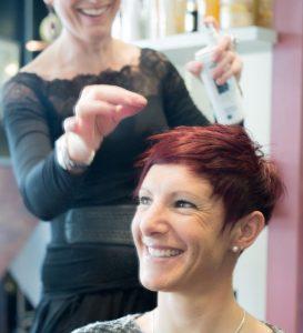 Coupe courte tendance proposée par le salon de coiffure Duo Coiffure