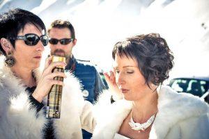 Isa coiffure la mariée à La Mongie