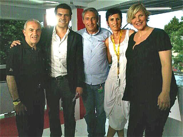 Isa maître artisan coiffeur a coiffé Céline Giraud pour le direct de stade 2 arrivée du tour de France à Bagnères
