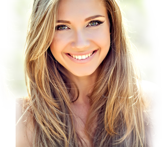 Maquillage Cheveux couleur caramel adoucir visage