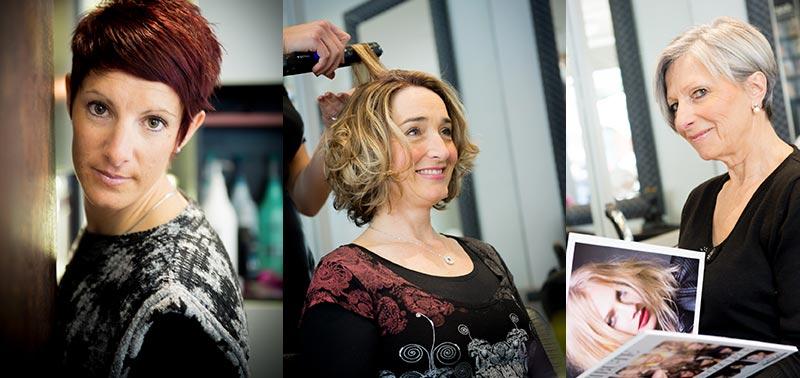 Salon de coiffure et nos clientes